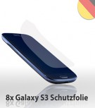 8x Screenguard Display schutzfolie für Samsung Galaxy S3