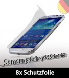8x Screenguard Display schutzfolie für Samsung Galaxy S4