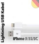 USB Lightning Ladekabel Datenkabel iPhone 5 iPod iPad 4
