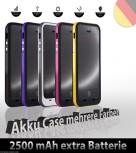 iPhone 5 / 5S Batterie Power Akku Case 2500mAh mehrfarbig