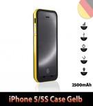 iPhone 5 5S Batterie Power Akku Case 2500mAh Farbe Gelb
